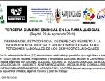 TERCERA CUMBRE SINDICAL EN LA RAMA JUDICIAL